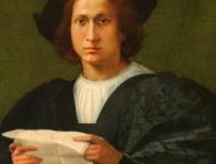 Россо Фьорентіно. Портрет молодої людини, що тримає лист.