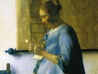 Йоханнес Вермеeр. Жінка в блакитному, що читає лист.